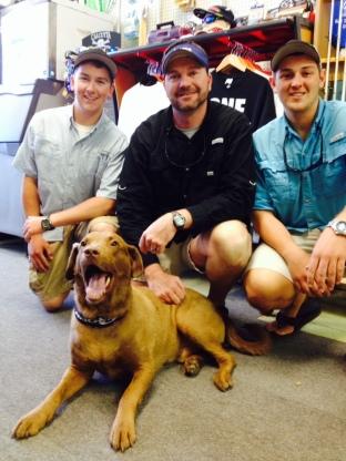 L-R: Grady Maynard, John Franklin, Nicholas Gutschick, Dog Marley