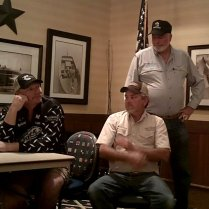 Tim, Bill, and Ricky West, seated