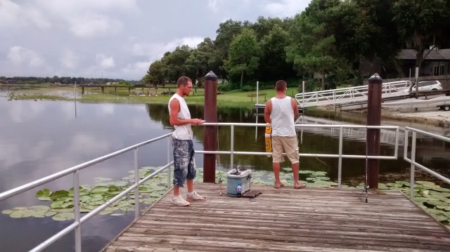 Dock fishermen