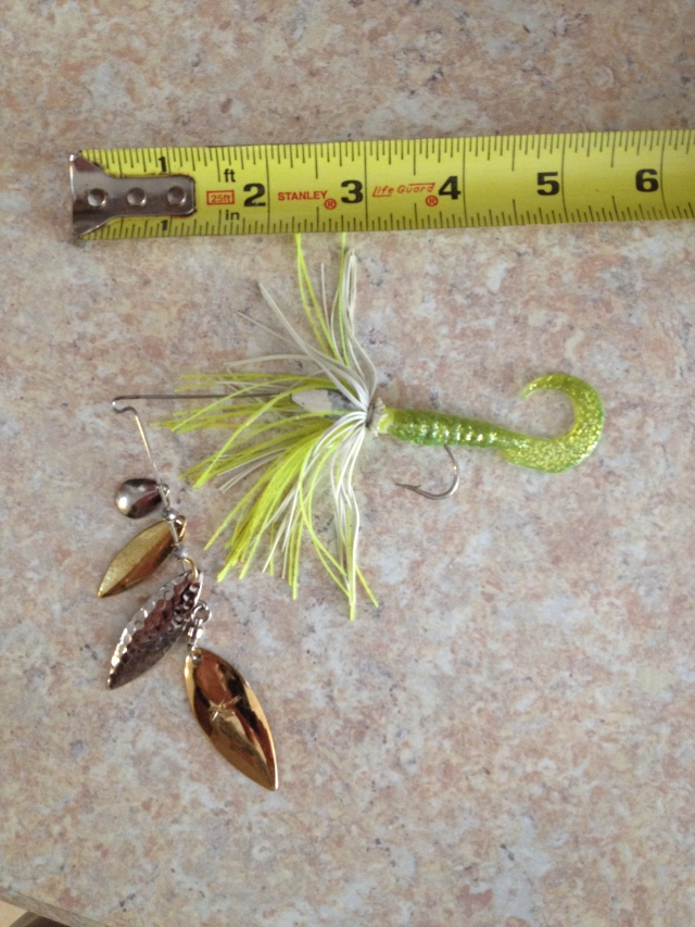 3/8 oz Spinnerbait Quad Blades