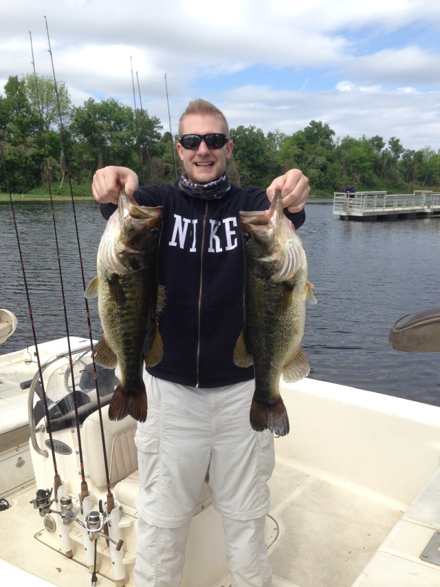 Corey Holding 10.5 lbs of Bass - Caught On Fluke