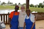Jerry Echols, Club Pres and regular cooks, Robert Edmonson and wife, Darlene.