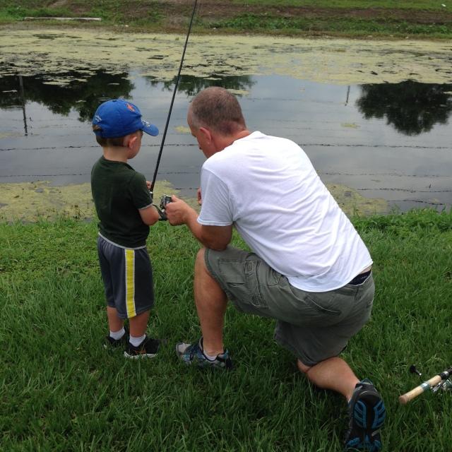 Dad Teaching Step-Son  Waylon Padget