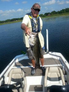 John Hendry Caught This Speed Worm 10 or 11 Pounder Bass