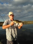 Bill Gorman holds a Lake Panasoffke Bass