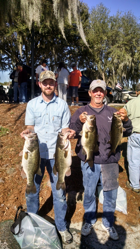 L/R Aaron Silvis & Rick Cope with 4 of 10 they caught. Total Weight 47.59
