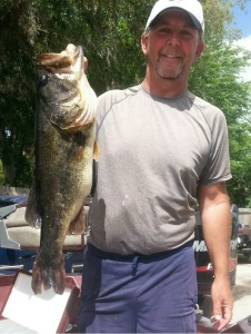 Rick Cope holds a Trophy Catch Qualifier 8.2 lb bass