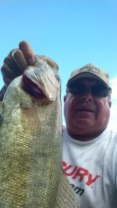 Ken Fox Caught 8/31/16 Weight 5.12 Long Lake Michigan Smallmouth