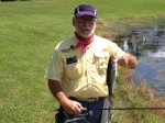 FFC President Randy DiSanto Caught This Bass In A Village Pond.
