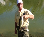 FFC VP Rob Husson Shows Off His Pond Bass.