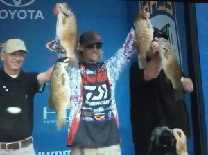 Seth Fieder Day 3 Weight 26-2 lbs Winning 3 Day Total Wt 76.5