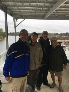 Promise Ranch anglers Feb 22, 2017 - (LR) Kelly Nelson, Wayne Barksdale, Rip Strautman, Steve Felix